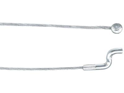 Bowdenzug Ø 1,9 mm, 2.000 mm, mit angepressten Nippel Ø 8 x 8 mm und Endstück Z-Form Ø 4 mm
