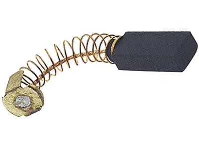Kohlebürste, Anschluss oval, 13,2 x 12,4 mm, 20,5 x 12,5 x 6,4 mm, mit Druckfeder, Kohle schräg auslaufend, für Benzin-/Elektrogeräte