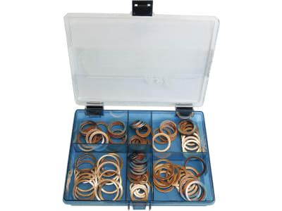 Kupferring-Sortiment DIN 7603, 120 St., in Kunststoffbox