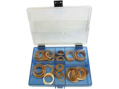 Kupferring-Sortiment DIN 7603, 80 St., in Kunststoffbox