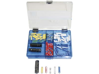 KFZ-Sicherungs-Sortiment DIN 72581/1, 78 St., Glas und Keramik, in Kunststoffbox