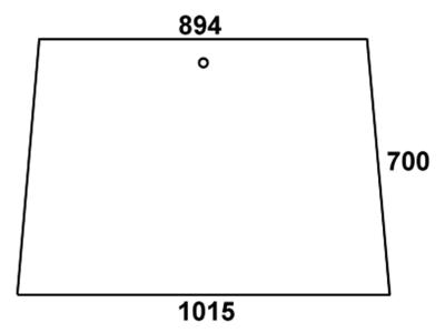 Frontscheibe, klar, für Fendt Farmer 103, 104, 105, 106, 108 S - Kabine Edscha Schwarwächter