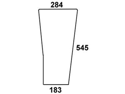 Frontscheibe, grün/klar, unten links/rechts, für Fendt Farmer 303-312, F 360 GT, F 365 GT