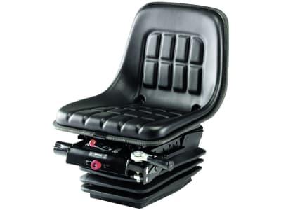 """KAB Traktorsitz """"XH2/P1"""", mechanisch gefedert, flach, PVC-Kunstleder, schwarz"""