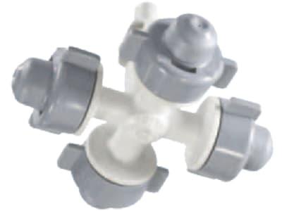 NETAFIM™ Kreuz für Sprüher CoolNet Pro™ mit 4 Düsen, Pressfit männlich