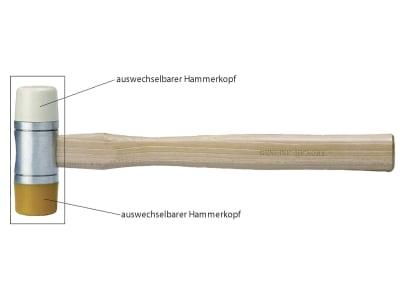 Schonhammer PU (Polyurethan); Nylon mit Hickorystiel