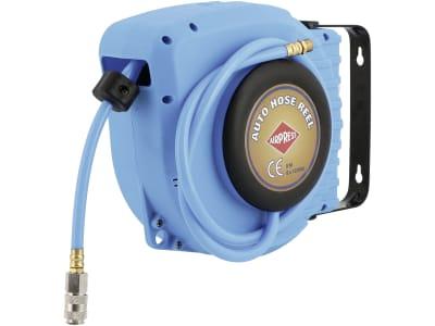 Airpress Schlauchaufroller für Druckluft selbstaufrollend, Wandmontage, 8 x 12 mm, 9 m