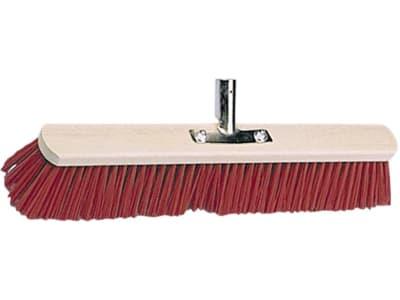 Kerbl Großraumbesen Elastan, rot, Rücken Holz, geschraubter Stielhalter Metall