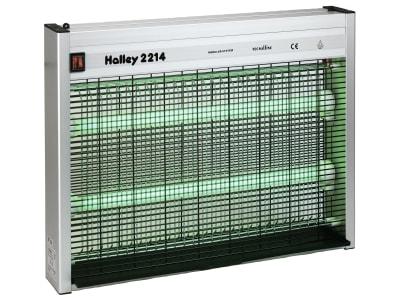 """Halley Fliegenvernichter """"2214"""" 2 x 20 W, grün, max. 300 m², Aluminiumgehäuse, IP 44, 299807"""