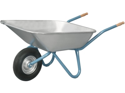 """mefro Schubkarre """"Export 100"""" mit Metallschüssel, Luft- bzw. PU-Rad"""