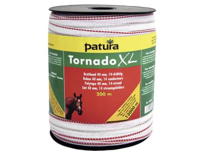 "Patura Breitband ""Tornado XL"" weiß; rot 40 mm/200 m, 189501"
