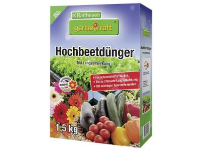 gartenkraft® Hochbeetdünger organisch-mineralischer NPK 8+3+3 für schmackhafte Früchte 1,5 kg Schachtel