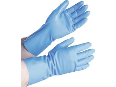 DeLaval Handschuh 100 % Nitril, für Reinigungsarbeiten mit Säuren und Basen, 1 Paar