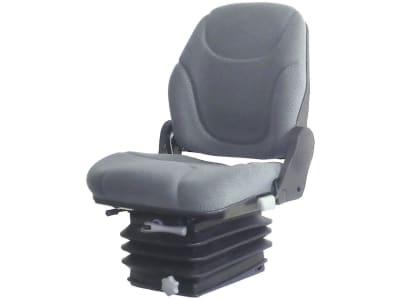 """Traktorsitz """"Parvus 82M"""", mechanisch gefedert, Veloursstoff, grau"""
