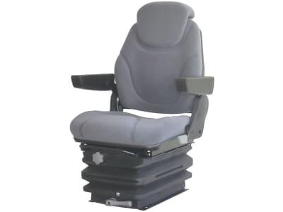 """Traktorsitz """"Qualitus 122M"""", mechanisch gefedert, Veloursstoff, grau"""