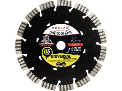 """Dronco® Diamant-Trennscheibe """"U5 Universal Speed Evolution"""" 230 x 2,6 x 22,23 mm, für Granit, Stein, Beton, Ziegel, C 3"""