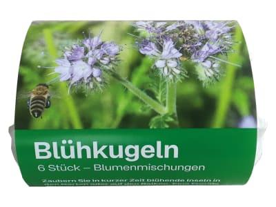 Blühkugeln 20mm blühende Flächen auf dem Garten und Balkon, Angebot für Bienen und Insekten 6 St. Karton