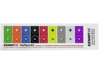 Kennfixx® Markierungsaufkleber 18 St., 9 Farben +/- für Staubschutz mit Klappdeckel