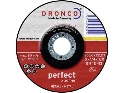 """Dronco® Metall-Schruppscheibe """"A 30 T Perfect"""" gekröpft"""