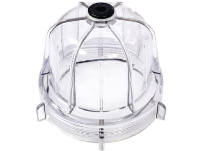 Hücobi Klarsichttasse Plexiglas, mit Gummidichtung, für Syphonabscheider RIV, Kunststoff-Ausführung