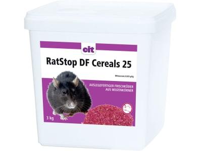 """Cit Giftköder """"RatStop DF Cereal 25"""" für die Ratten- und Mäusebekämpfung im Innen- und Außenbereich"""
