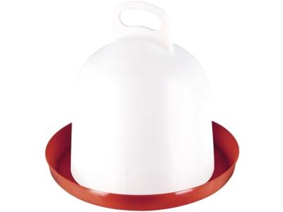 """Stükerjürgen Geflügeltränke """"Clean"""" 3 l Kunststoff rot; weiß mit Doppelzylinder, 30261"""