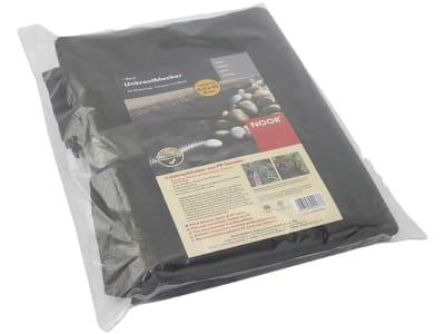 NOOR Unkrautblocker Bodengewebe Premium 130 g/m² schwarz 0,9 x 10 m