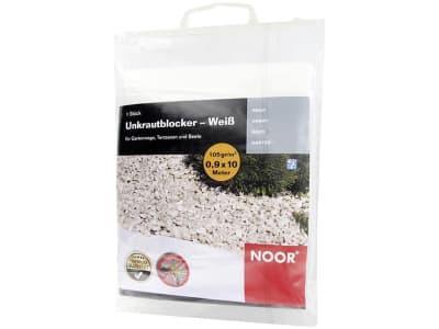 NOOR Unkrautblocker Bodengewebe 105 g/m² weiß 0,9 x 10 m