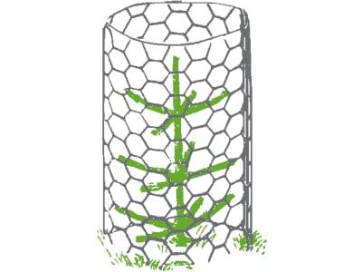 PlantaGard® Baumschutzgitter Maschen 50 mm, Ø x H: 32 x 100 cm, Stahl, blank, 6-Eck-Geflecht, 100 St.
