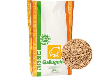 Gallugold® Geflügelkorn Milbex ohne Gentechnik Hühnerfutter zur Bekämpfung der roten Vogelmilbe Pellet 25 kg Sack GMO controlled (VLOG anerkannt)