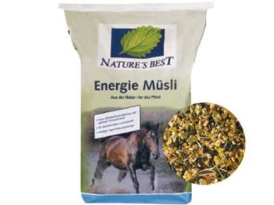 NATURE´S BEST Energie Müsli für Pferde mit hohem Energiebedarf und zur Unterstützung von Muskulatur und Gelenken 20 kg Sack