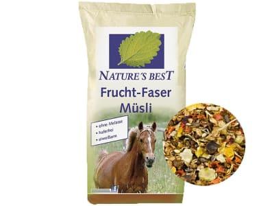 NATURE´S BEST Frucht-Faser Müsli naturbelassenes Fruchtmüsli für leichtfuttrige Pferde ohne Zusatzstoffe 15 kg Sack
