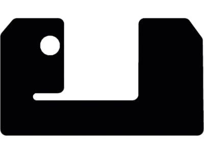 Fußmatte aus Gummi, schwarz, für Weidemann Hoftrac 1160 (LK 178), ab Bj. 18