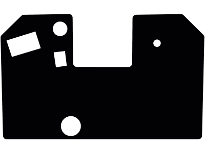 Fußmatte aus Gummi, schwarz, für Weidemann Kompaktlader 1506, ab Bj. 00