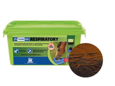 DERBY® Horslyx Respiratory schmackhafte Leckmasse mit Eukalyptus- und Pfefferminzöl für Pferde mit Atemwegsproblemen 15 kg Eimer