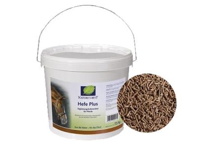 NATURE´S BEST Hefe Plus für Pferde mit Darmproblemen, zur Regeneration und zur Unterstützung des Immunsystems 7,5 kg Eimer