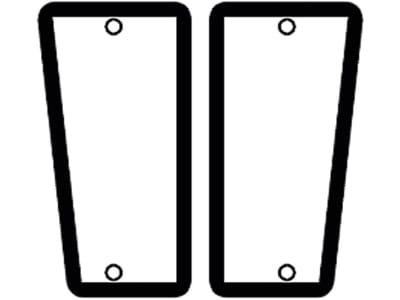 Frontscheibe, grün, unten links/rechts, Siebdruck, für Fendt Farmer 260P-280P, Farmer 240S-275S, Farmer 250V–280V