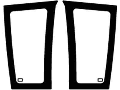 Frontscheibe, grün, unten links/rechts, geklebt, Siebdruck, für Fendt Farmer 307-309, 309 Vario–313 Vario, Favorit 916-926, 916–930