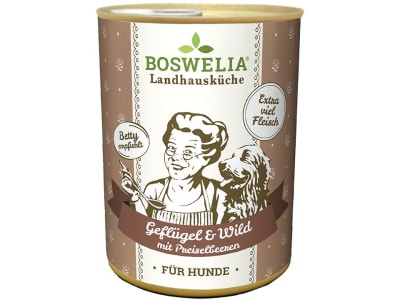 Boswelia Landhausküche Hund Geflüge & Wild  (Karton 12x 400 g Dose)