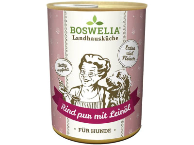 Boswelia Landhausküche Hund Rind Pur Leinöl  (Karton 12x  )