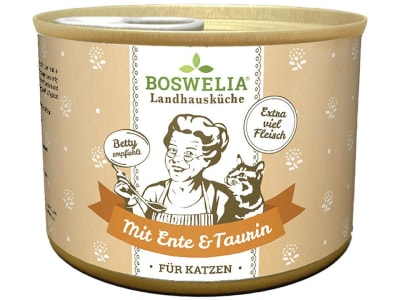 Boswelia Landhausküche Katze Ente  (Karton 12x 200 g Dose)