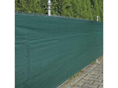 NOOR Zaunblende winddurchlässig Sichtschutz Zaun grün 1,8 x 5 m inkl. 12 m Befestigungsschnur