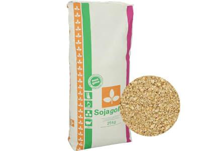 Sojagold® Sojaextraktionsschrot NON GMO Einzelfuttermittel 25 kg Sack GMO controlled (VLOG anerkannt)