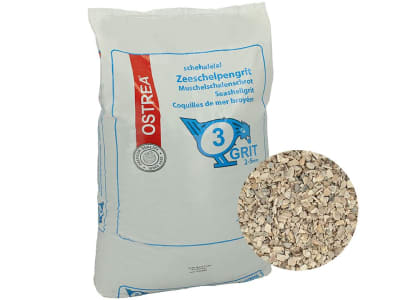 OSTREA® Muschelschalenschrot 2-5 mm für Geflügel 25 kg Sack