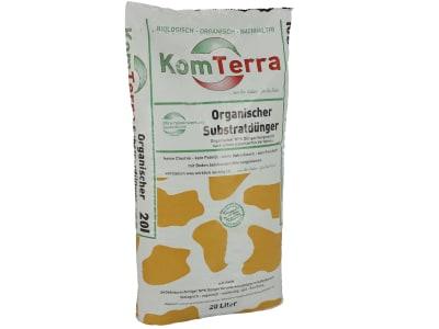 KomTerra Universal Organischer Universaldünger NPK mit Boden belebenden Mikroorganismen, ohne Frischtorf, ohne Kokosfasern 20 l Sack