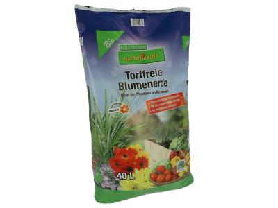gartenkraft® Torffreie Blumenerde  40 l Sack