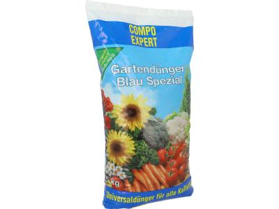 COMPO EXPERT Gartendünger Blau Spezial Chloridarmer, granulierter Universal- NPK 12+8+16 Dünger für den Privatgarten