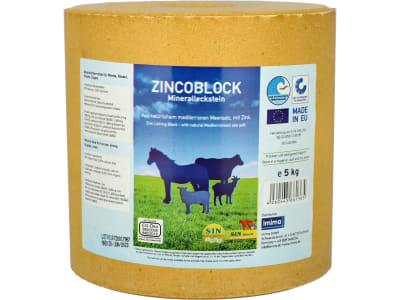 S.I.N. HELLAS Zincoblock Mineralleckstein biotauglicher Mineralleckstein für Pferde 5 kg Leckstein