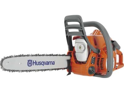 "Husqvarna® Benzin-Kettensäge ""120 Mark II"" 1,4 kW (1,9 PS) Schnittlänge 35 cm, 9678619-03 !!betriebsbereit!!"