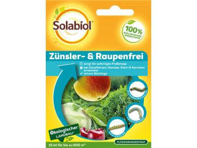 Solabiol Zünsler- & Raupenfrei gegen Buchsbaumzünsler, Frostspanner und Kohlweißling, 15 ml für 500m²